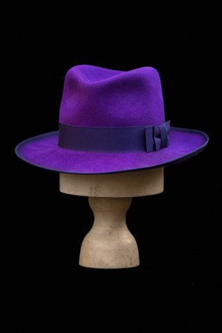 Gents purple wide brimmed fedora  3441708df0d
