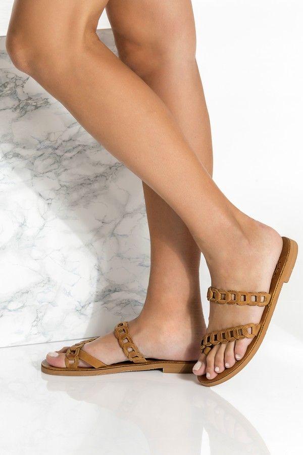 Women Slides Toe Ring Sandals Boho Sandals Slide Sandals Leather Sandals Greek Leather Sandals Women Sandals Handmade Leather Sandals