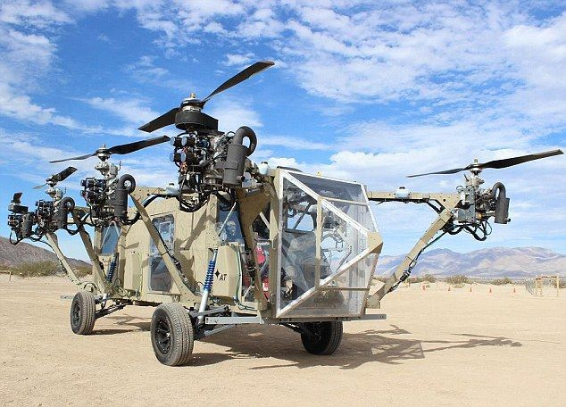 Hybrid Land Helicopters : Black Knight Transformer