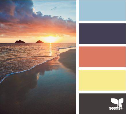 setting tones: Colors Combos, Design Seeds, Paintings Colors, Colors Palettes, Sunsets Colors, Colors Schemes, Beaches Sunsets, Sunsets Tones, Colors Inspiration