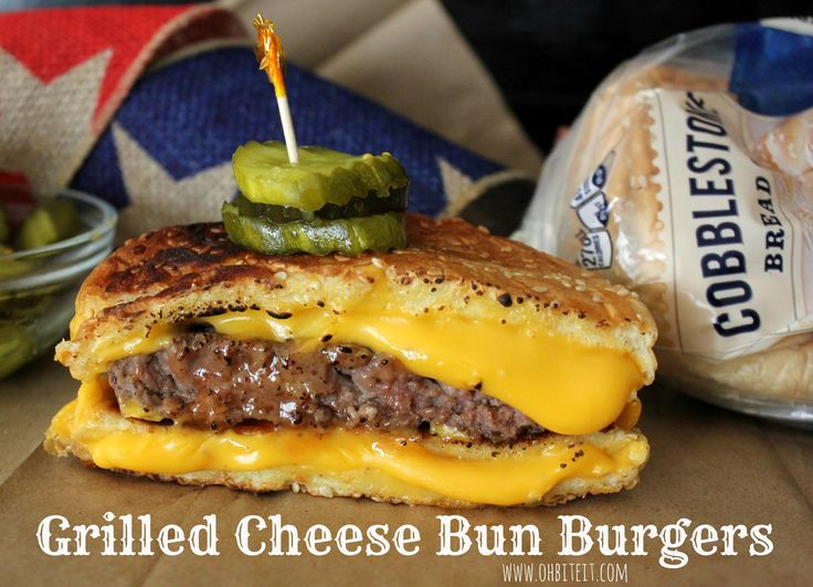 ~Grilled Cheese 'Bun' Burgers!