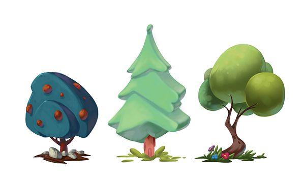 Trees on Behance