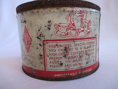 Vintage Gill's Hotel Special Coffee Chicory Can - Empty No Lid ...