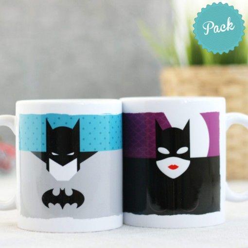 Taza (Pack 2)- Batman y Catwoman - ARTISTA El Bicho Bola