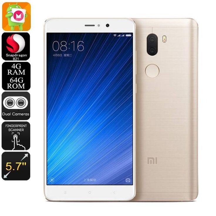 Xiaomi Mi 5S Plus Android Smartphone - Qualcomm CPU, 4GB RAM, Android 6.0, Dual-IMEI, 4G, 13MP Cam (Gold)
