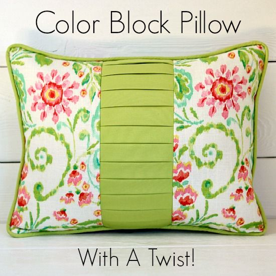 Stunning color block pillow tutorial