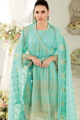 628d6e467a Gul Ahmed 3 Piece Embroidered Custom Stitched Suit - FE-105 - Green ...