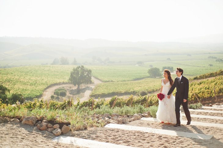 A wedding at Casas del Bosque vineyard, Chile.