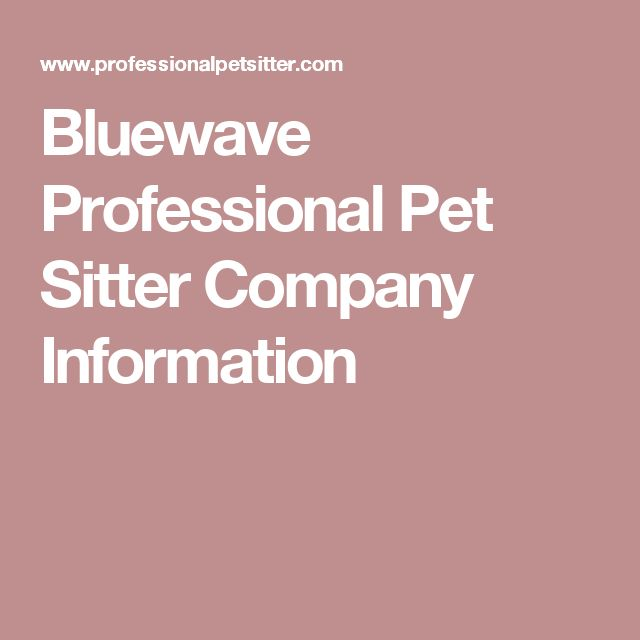 bluewave pet sitting