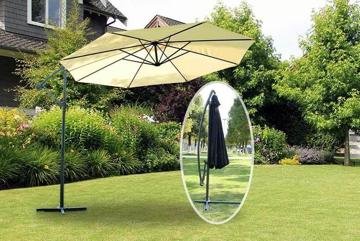 Outdoor Banana Parasol - 2 Colours! deal in Sheds & Garden Furniture Get a 3m outdoor banana parasol.  Choose black or cream.  Stylish and unique design.  Made from quality, waterproof fabric.  Opens and closes with a crank winding mechanism.  Ideal for any garden, patio or swimming pool. BUY NOW for just £49.00