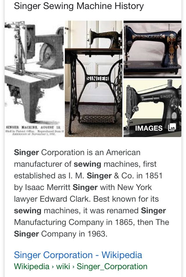 Singer Company History | Sewing | Decor, Home Decor, Singer