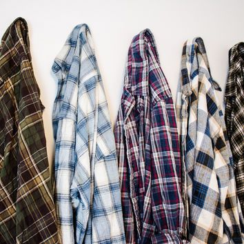 Mystery Oversized Vintage Flannel Shirt // Mint Threads - Wanelo App for Shopify