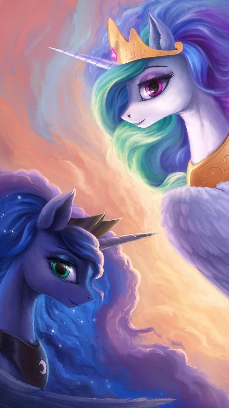 mlp art,my little pony,Мой маленький пони,фэндомы,Princess Celestia,Принцесса Селестия,royal,Princess Luna,принцесса Луна