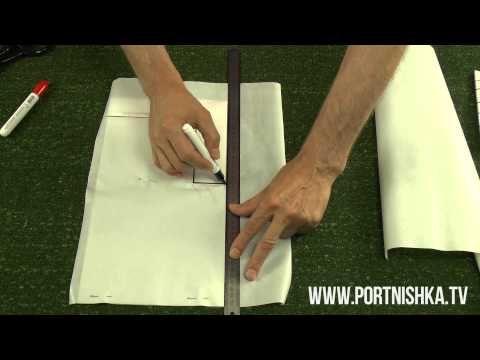 Как правильно изготовить шлицу на подкладе Часть I - YouTube