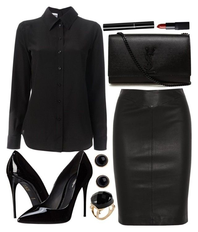 """Untitled #3401"" by natalyasidunova ❤ liked on Polyvore featuring moda, Moschino, Dolce&Gabbana, Adele Marie, Joseph, Yves Saint Laurent, ALDO, Chanel e NARS Cosmetics"