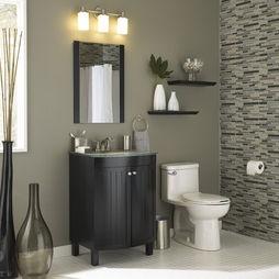 Gray Walls Black Vanity Glass Tiles All Lowes Bathroom Gray Walls Design
