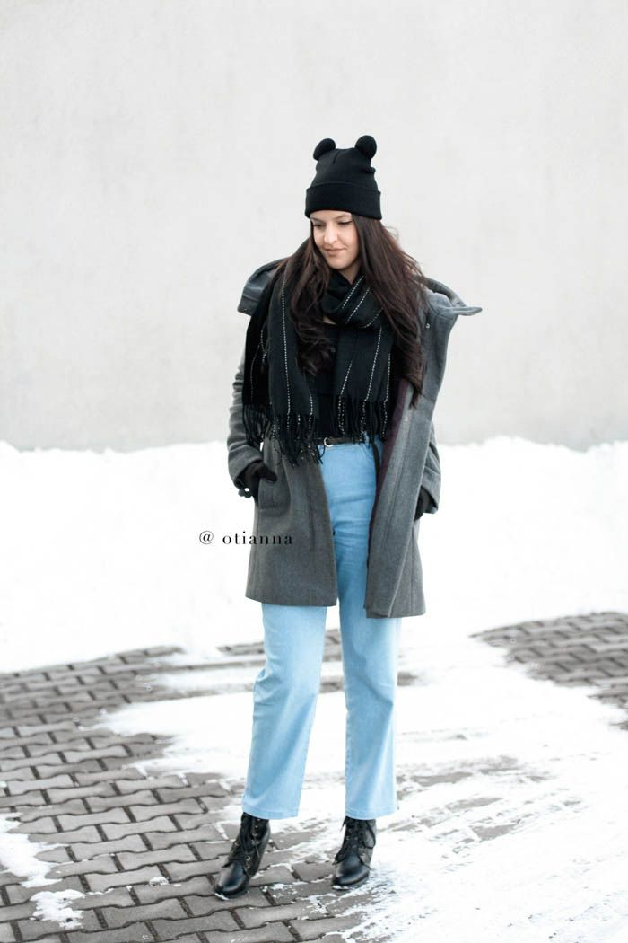 Cat Ear Hat with ears bear , style fashion outfit   denim jeans   OTIANNA