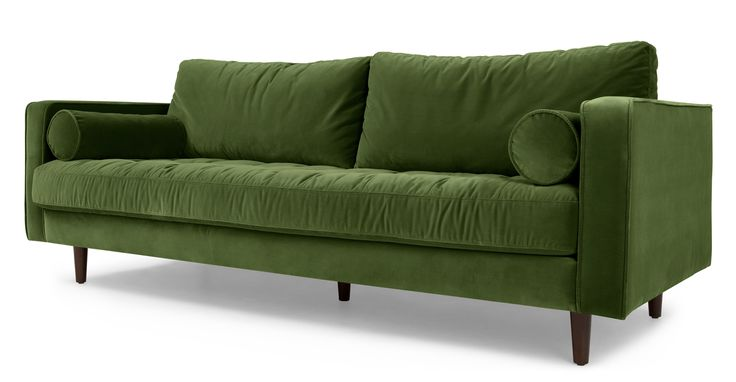 Grass Cotton Velvet Sofa from Made.com. Tying in with 2017's pantone of the year.