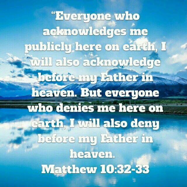Mathew 10 32-33