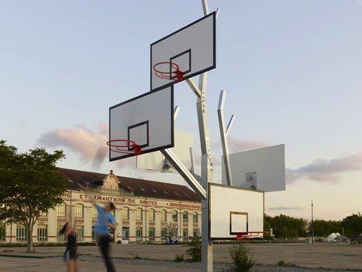 Arbre à Basket by a/LTABasketball Goals, Interiors Design, Basketball Trees, Goals Arrangements, Ball Hoop, Baskets Trees, Baskets Ball, Excusas Tiene, Design Blog