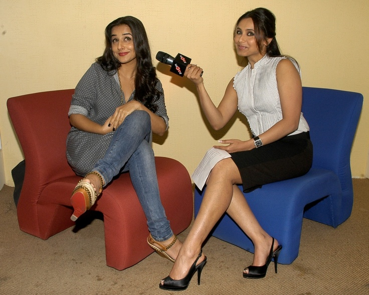 Bollywood - Rani and Vidya interviewing each other at zoOm