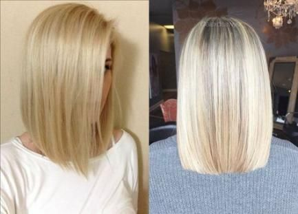 Hair blonde shoulder size straight medium haircuts 63+ concepts