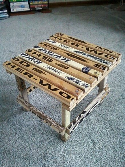25 best ideas about hockey crafts on pinterest hockey for How to make things out of sticks
