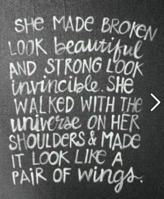 The universe on her shoulders.