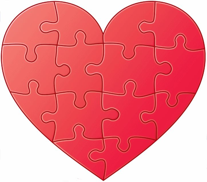 Printable Heart Graphics | Free Customized Printable Heart Puzzles