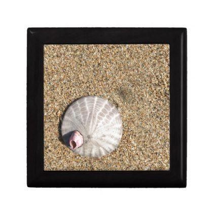 IMG_0578.JPG  Sandollar seashell on beach Keepsake Box - ocean side nature waves freedom design