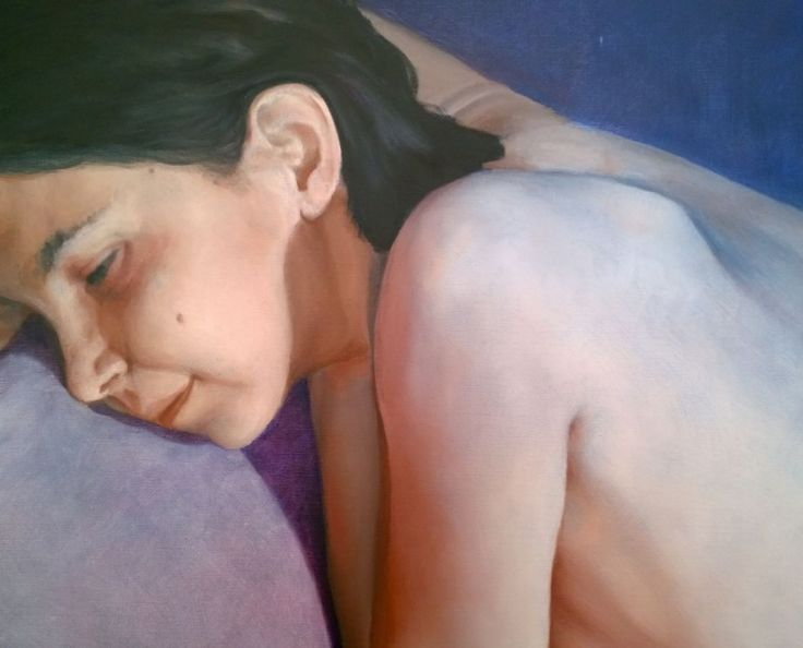 'The bliss', oil on canvas, close-up details (artwork)