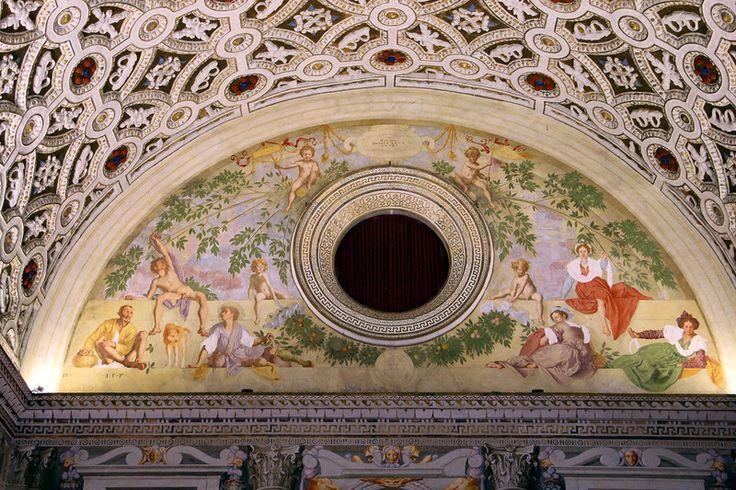 Вертумн и Помона (Понтормо).  Вилла Амбра в Поджо-а-Кайано, Италия.