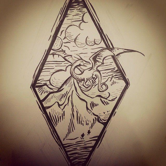 A cool woodcut design for @thatpalegirl445!! #woodcuttattoo  #tattoos #design…
