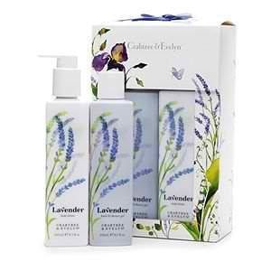 Crabtree Evelyn Lavender Lotion & Gel DUO Set Nib by cratbree evelyn. $24.96. 1-Lavender Shower Gel, 8.5 ounce. The finest lavender extract provides the relaxing fragrance for the Lavender scent, with added touches of violet, tonka bean, lemon leaf and musk for a sensual character. 1-Lavender Body Lotion, 8.3 ounce. Beautifully packaged in a lovely printed box. Give the gift of a beautiful skincare routine with the Crabtree & Evelyn Lavender Duo, a wonderful way to give your b...