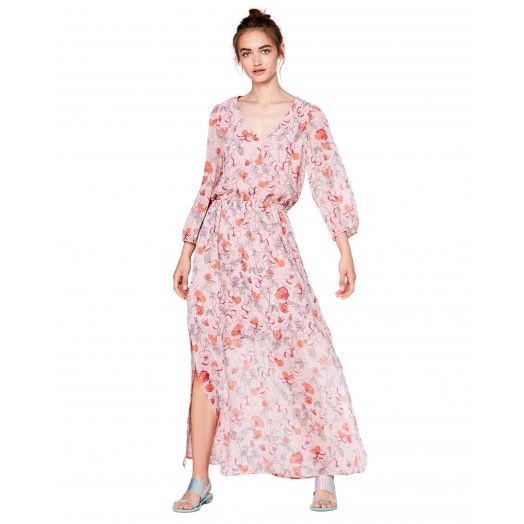 Long #floral #dress from #Benetton #SS17 #woman #FlowerPower collection