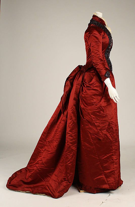 Dinner dress Date: late 1870s Culture: American Medium: silk
