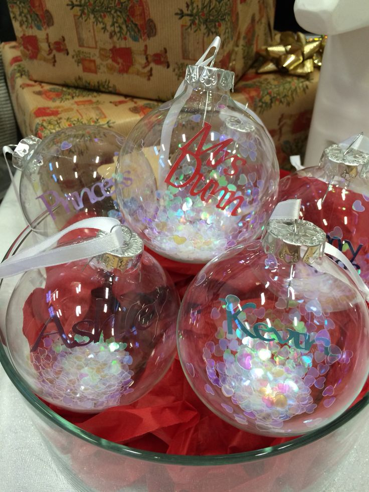 Personalised Christmas Tree Baubles filled with mini papercuts by Dala Designs