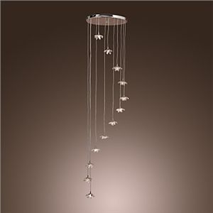 12 flammiger Kristall-Kronleuchter in Windspiel Form