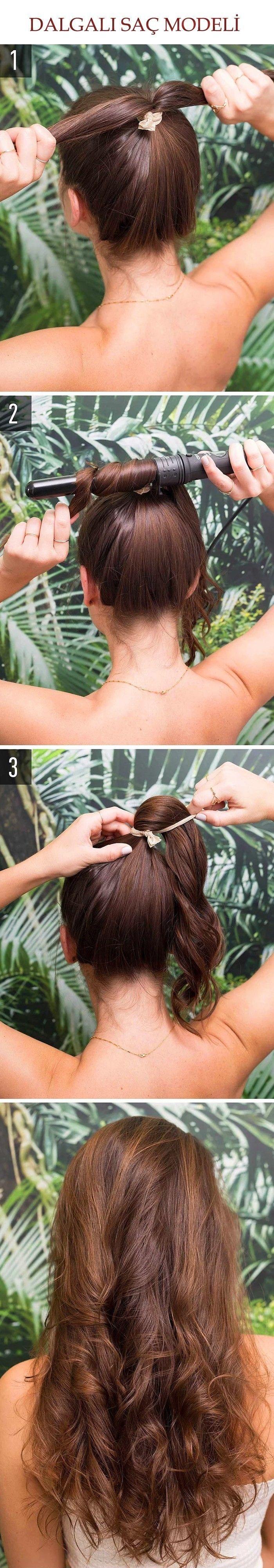 Saçlarınızı Dalgalı Yapmanın En Pratik Yolu Bu Saç Modeli @kadinedio #kadın #kadin #women #woman #saç #saçmodeli #sacmodeli #hairstyle #hair