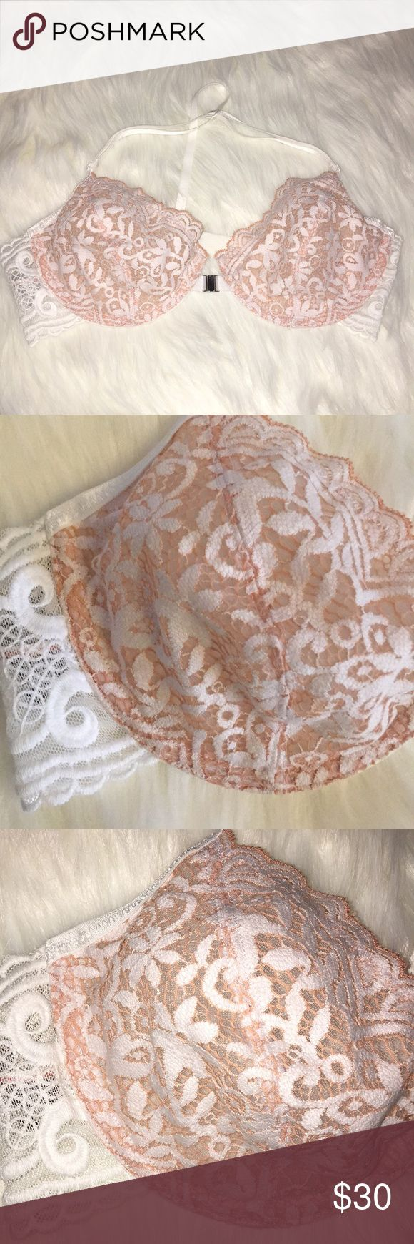 Free People What She Said Underwire Bra 32D *So sexy lace bra with a sheer, barely there design featuring underwire for support. *Thin elastic T-straps are adjustable for a comfortable fit *Clip closure at the center of bust for an easy on-off *32D Free People Intimates & Sleepwear Bras