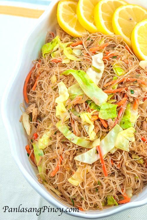 Pancit bihon - this recipe is pretty close to the way my mom makes it. I will post my mom's version once I get the exact measurements.