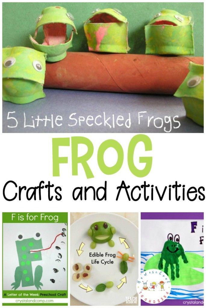 Are you looking for activities to teach your preschoolers about frogs? This is such a nice collection of frog crafts you can add to your homeschool preschool lessons. #homeschoolprek #frogcrafts #homeschooling #preschool #prek #kidscrafts   https://homeschoolpreschool.net/frog-crafts-for-preschoolers/