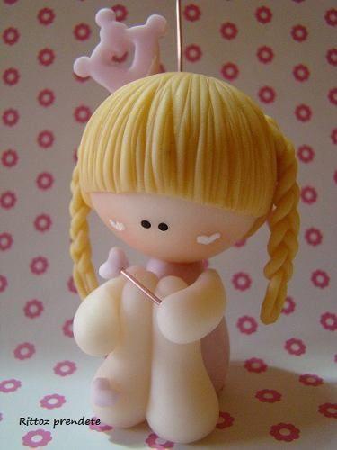 souvenirs princesas porcelana fria By Maria Elena Lopez
