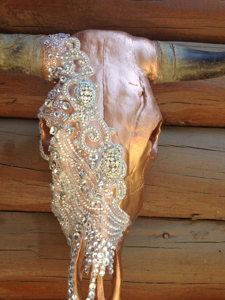 Over the too bling cow skulls ! I take custom orders !