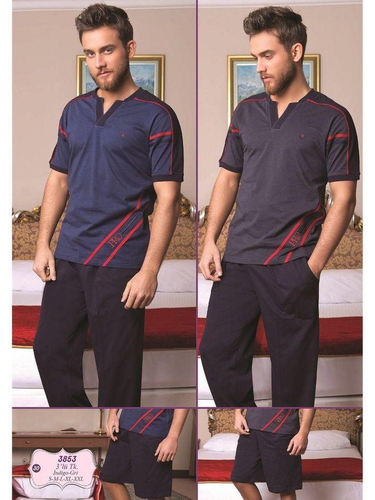 Bone 3853Erkek 3 lü Pijama Takım; Penye kumaştan üretilen erkek 3 lü pijama takım modelidir.