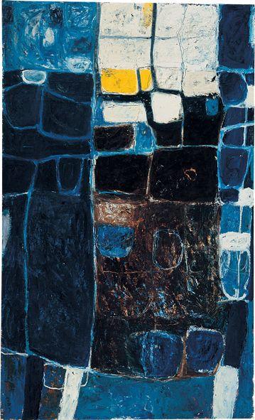 William Scott, Interior, 1958, Oil on canvas, 168 × 102 cm / 66¼ × 40¼ in, Private collection