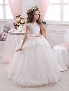 Elegant White Lace Sheer Tulle First Communion Dresses for Girls V Back Vestidos de Comunion Casamento Flower Girl Dresses-in Flower Girl Dresses from Weddings & Events on Aliexpress.com | Alibaba Group