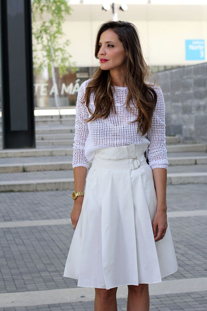 Total white look with Clarks - ladyaddict | StyleLovely