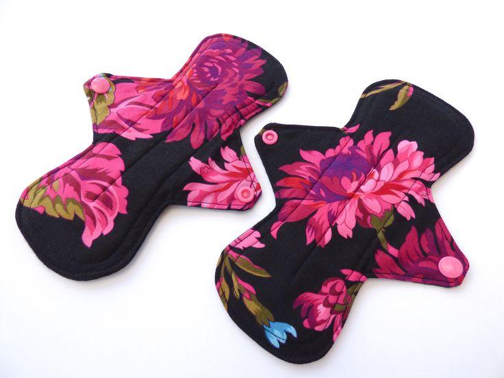 "8"" cloth menstrual pad, cloth pads, washable pad, Medium flow,mama cloth, period pad, sanitary pad, cotton topper, eco pad"