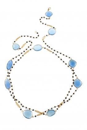long gold plated #gemstone #necklace I designed for NEW ONE I NEWONE-SHOP.COM